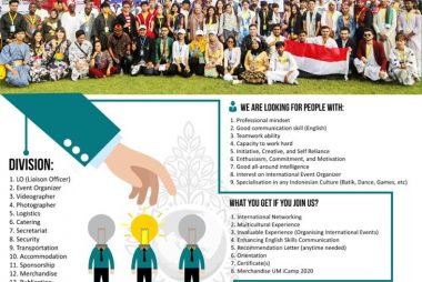 Open Recruitment UM ICamp 2020 Volunteer