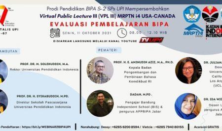 Call for Registration] Virtual Public Lecture III: Evaluasi Pembelajaran BIPA